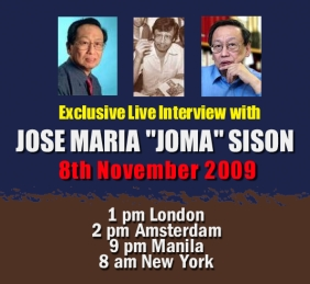 JOMA Sison Exclusive Interview on November 8, 2009