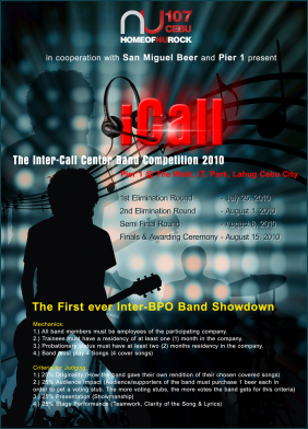 iCall - Cebu's 1st Inter-BPO Rock Band Contest