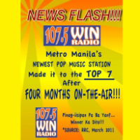 Win Radio Manila Lands 7th on Manila's Top Stations