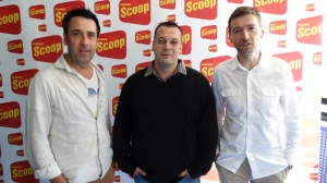 Radio Scoop (Left : Laurent Ripoll /   Center : David Tartar   / Right : Alain Liberty : General director of the program)