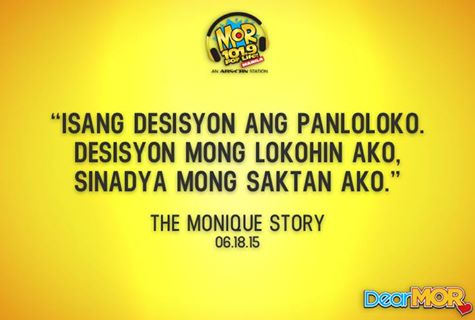 "Listen to MOR 101.9 Dear MOR Story Trends ""Monique Story"""