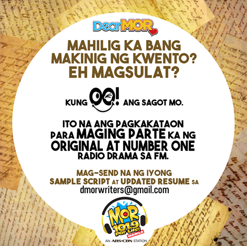 Live Streaming For MOR 101.9 Manila and Be A Dramatista