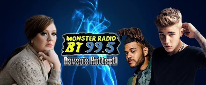 Listen To Monster Radio BT 99.5 Davao, Monster's Top 30 April 16 2016