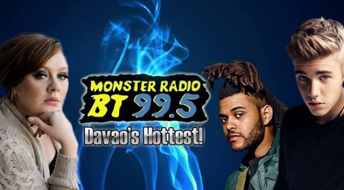 Listen To Monster Radio BT 99.5 Davao, Monster's Top 30 April 16 2016