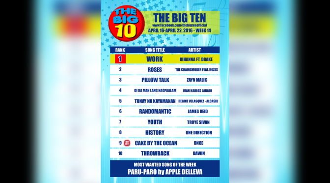 Vote For Juan Karlos Labajo on The Big 10 Countdown for Barangay LS 97.1