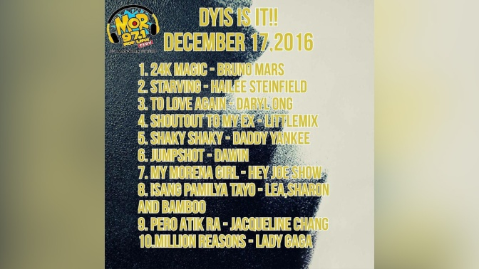 MOR Cebu DYIS IT IT December 17 2016 Top 10 Result